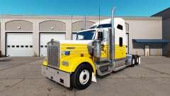 La piel de Porter en el camión Kenworth W900