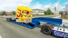 Baja barrido con un camión averiado