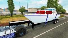 El remolque de la embarcación