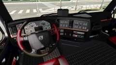 Negro y rojo interior Volvo