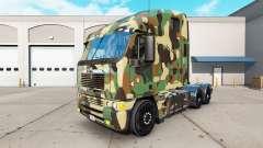 La piel del Ejército en el camión Freightliner A