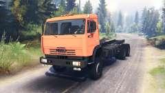 KamAZ-65111 para Spin Tires