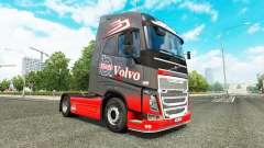 Gris Rojo de la piel para camiones Volvo
