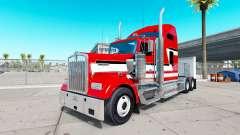 La piel de color Rojo y Blanco en el camión Kenw