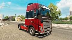 Piel Piel Rojo Negro en Volvo trucks