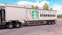 Curtain semitrailer Starbucks
