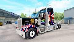 La piel de la Reina en el camión Kenworth W900