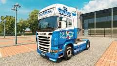 Los pitufos de la piel para Scania camión