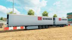 Semi remolque de la Corona Gigaliner [DB Schenke