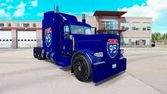 La piel de la carretera Interstate 95 Peterbilt