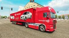 Pieles de la Compañía de Coches en camiones