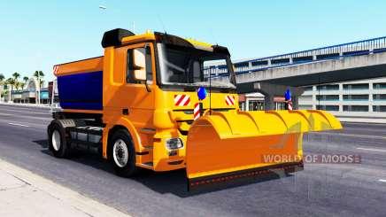 La Nieve Mercedes-Benz Actros para American Truck Simulator