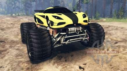 Koenigsegg One:1 Monster v2.0 para Spin Tires