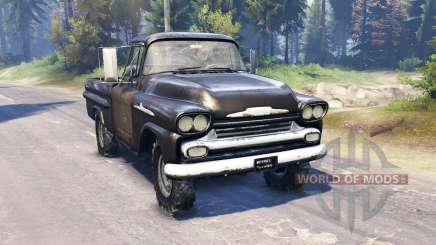Chevrolet Apache 1959 v2.0 para Spin Tires