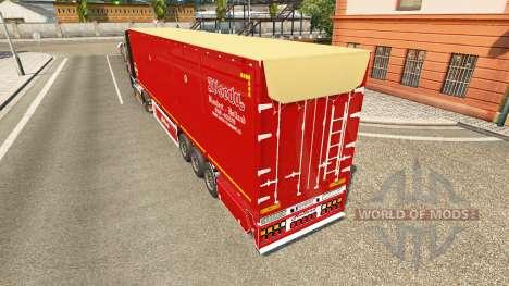 Semi-remolque volquete Bodex v2.0 para Euro Truck Simulator 2