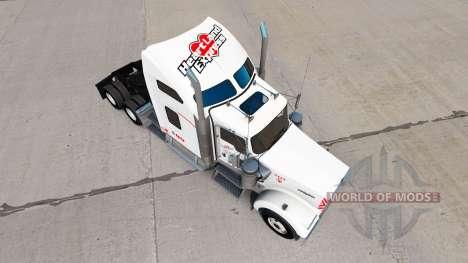 La piel Heartland Express, [blanco] camión Kenwo para American Truck Simulator