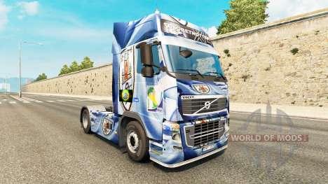 El Uruguay de la Copa 2014 de la piel para camio para Euro Truck Simulator 2