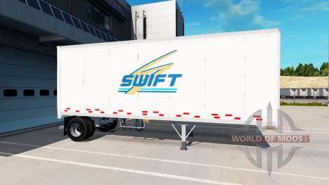 Uniaxial semi-remolque para American Truck Simulator
