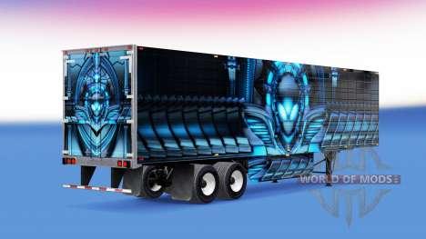 La piel de Alienware refrigerados semi-remolque para American Truck Simulator