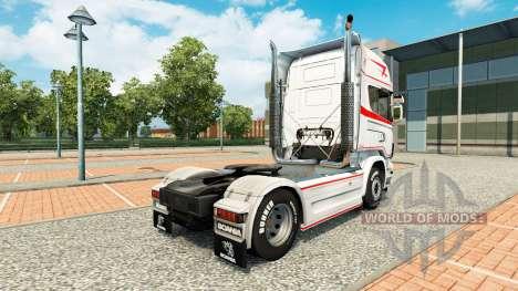 La piel de Bart Kroeze en tractor Scania para Euro Truck Simulator 2