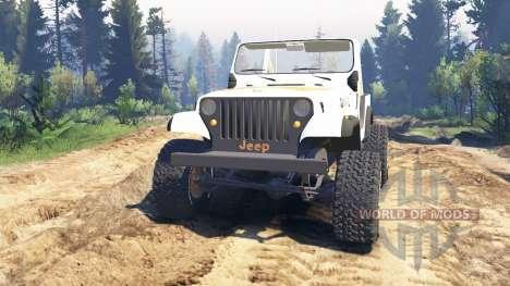 Jeep CJ-7 Renegade [Dixie] v2.0 para Spin Tires