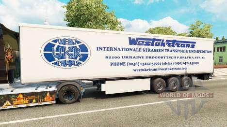El Oeste de Camiones Trans de la piel para remol para Euro Truck Simulator 2