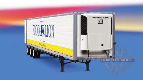 Refrigerado semi-remolque, estados UNIDOS para American Truck Simulator