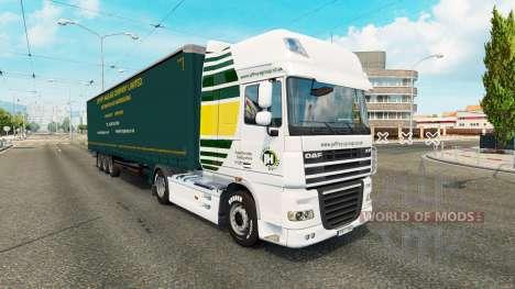 Jeffrys de Transporte de la piel para tractores para Euro Truck Simulator 2