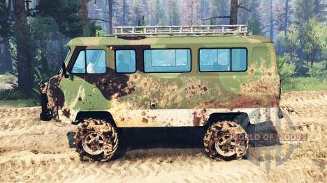 UAZ-2206 v5.0 para Spin Tires