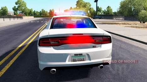 Dodge Charger de la Policía en el tráfico para American Truck Simulator