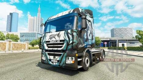 La piel Klanatrans en el camión Iveco para Euro Truck Simulator 2