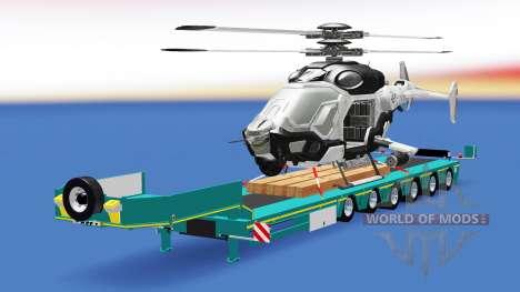 Baja de barrido con una carga de helicópteros AH para American Truck Simulator