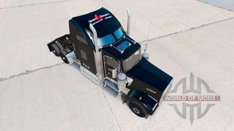 La piel Stevens Transporte en camión Kenworth W9 para American Truck Simulator