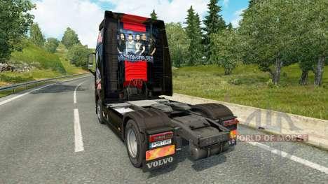 Iron Maiden piel para camiones Volvo para Euro Truck Simulator 2