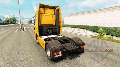 La piel Trans Europa en camión Mercedes-Benz para Euro Truck Simulator 2