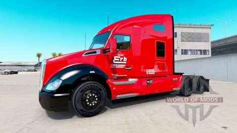 Erb Transporte de la piel para Kenworth tractor para American Truck Simulator