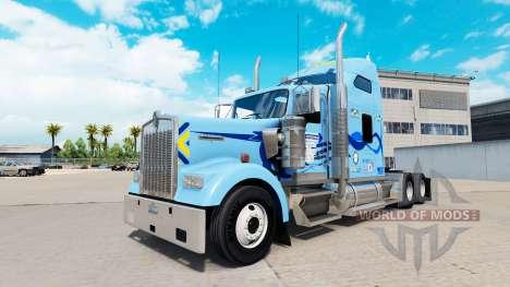 La piel Werner en el camión Kenworth W900 para American Truck Simulator