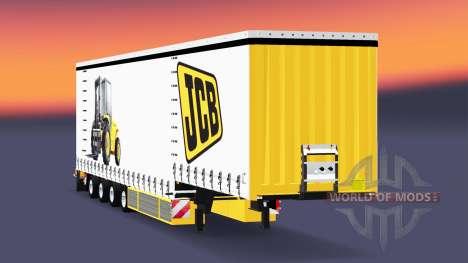 Cuatro ejes de la cortina semi-remolque Krone v5 para Euro Truck Simulator 2