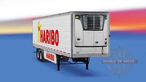 La piel Haribo en el remolque para American Truck Simulator