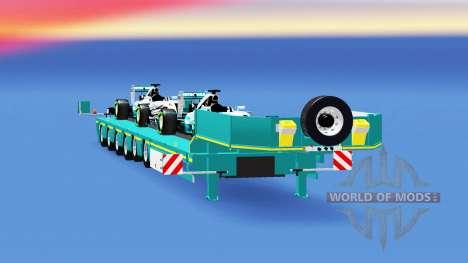 Baja de barrido con una carga de coches definibl para American Truck Simulator
