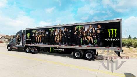 La piel de Monster Energy para la semi para American Truck Simulator