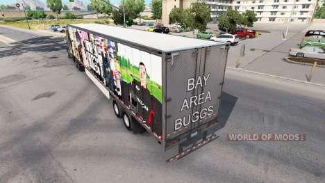 La piel del Área de la Bahía Buggs en el remolqu para American Truck Simulator