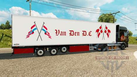 Semi-remolque frigorífico Chereau Van Den D. C para Euro Truck Simulator 2