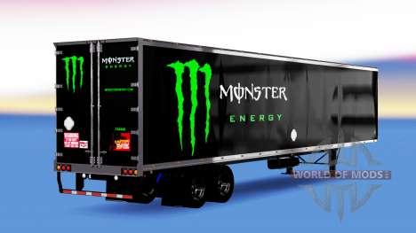 De metal semi-remolque de Monster Energy para American Truck Simulator