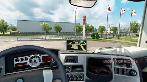 Navegador GPS para Renault para Euro Truck Simulator 2