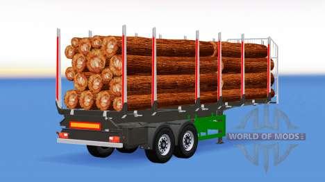 Pequeño camión semi-remolque para American Truck Simulator