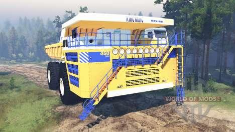 BelAZ-75710 para Spin Tires