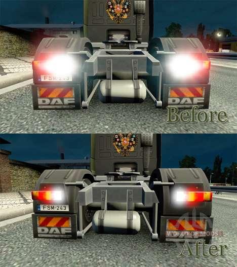 El efecto de las luces v2.0 para Euro Truck Simulator 2