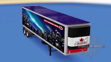 La piel de Molson Canadian en el remolque para American Truck Simulator