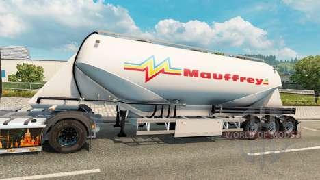 Una colección de pieles de cemento semi-remolque para Euro Truck Simulator 2